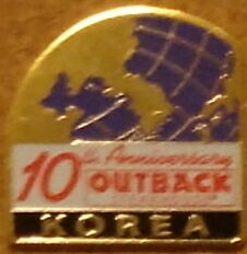 J3593 Outback Steakhouse Korea 10th Anniversary