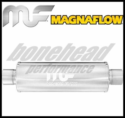 "Magnaflow 12645 Hi-Flo Performance Muffler 6/"" Round 18/"" Body 2.25/"" Center//Center"