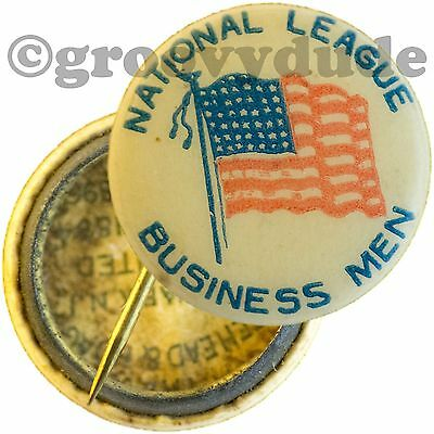 McKinley Vintage National League Of Business Men Campaign 3/4 Pin Pinback Button