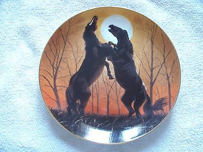 Stallions At Sunrise Donald W. Patterson Horse Collector Plate
