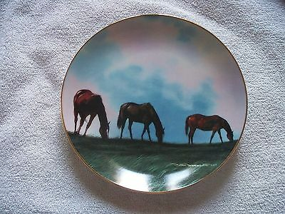 Gathering In The High Meadow Donald W. Patterson Horse Collector Plate