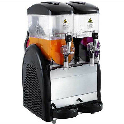My Granita - Fast Freeze Twin Slush Machine Drinks Ice Cold Catering Bar - Black