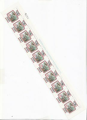 China Macau 1982 Geographical Position 50 Avos stamp Perforation ERRORS 10 stamp