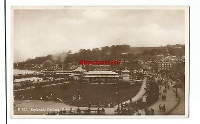 Scotland Bute Rothesay Esplanade Gardens Real Photo Vintage Postcard 30.5