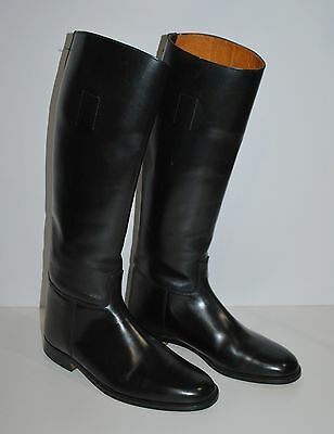 Vintage Mans 11 D Marlborough  Black Leather Riding Boots Made In England