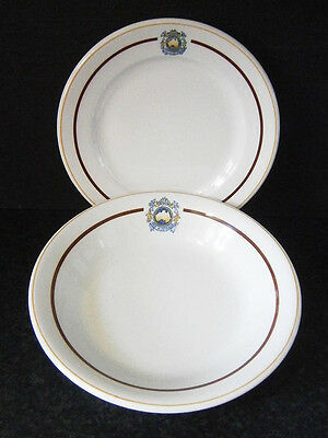 Vintage Collectable Hotel China The Australia Badged Soup Bowl & Side Plate