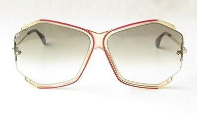 COOL VINTAGE 80s CAZAL W.GERMANY CLEAR RED WHITE GOLD SUNGLASSES n/851 852 1980s