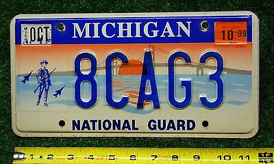 MICHIGAN 1999 - Bay Bridge NATIONAL GUARD with graphic license plate - nice orig