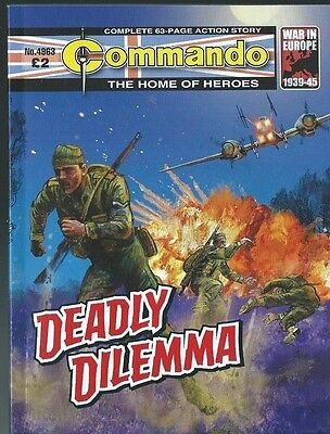 Deadly Dilemma,commando The Home Of Heroes,no.4963,war Comic,2016