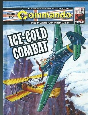Ice-Cold Combat,commando The Home Of Heroes,no.4943,war Comic,2016