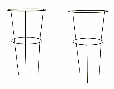 Pack of 2 x Urban Large Metal Conical Plant Supports - Grow Through Conical Ring