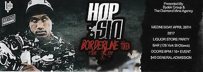 Hopsin Hip Hop Ottawa Canada 26.04.2017 Used Ticket