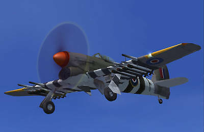 Giant 1/5 Scale British WW-II Hawker Typhoon Fighter Plans, Templates
