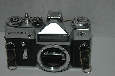 Zenit Em  35 Mm Film Camera Body : Working. Not Fully Tested.