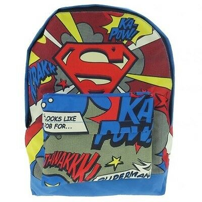 Superman Backpack School Sports Bag with Free UK P&P