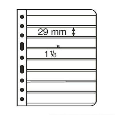 5 BLACK VARIO STAMP STOCK SHEETS DOUBLE SIDED, 8 STRIPS - (195mm X 29mm STRIPS)