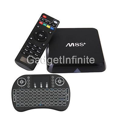 M8S+ Plus S905X Quad Core Android 6.0 Smart TV BOX 16.1 Fully Loaded Wifi 1G/8G