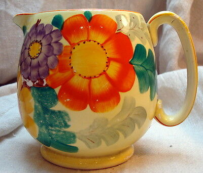 Genuine Vintage Gray's Pottery Susie Cooper Hand-Painted Jug For Restoration