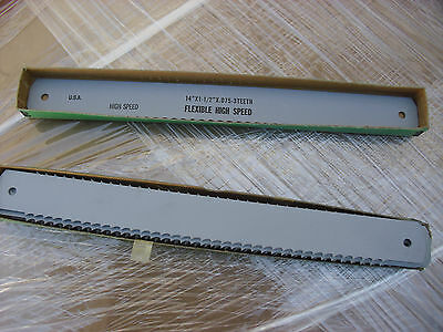 "TEN !!   14"" x 1-1/2"" x .075"" x  3 TPI HSS Power Hacksaw Blades Made In USA"