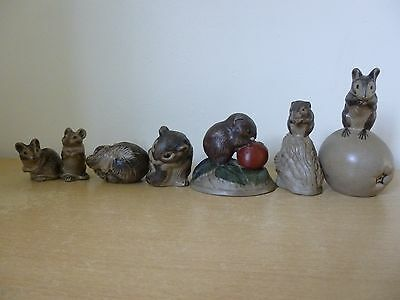 Mixed Lot of 7 Poole Pottery Stoneware Mice - Vintage