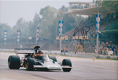 Emerson FITTIPALDI Autograph SIGNED LOTUS Grand Prix 12x8 Photo AFTAL COA