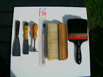 Vintage Painters Tools Paint Brushes & Scrapers Wallpaper Hanging Brush