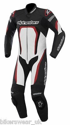 Alpinestars MOTEGI 1 One Piece Suit White/Black/RED Leather Motorcycle EU Sizes
