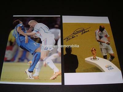 Zinedine Zidane Signed 2006 World Cup Final Headbutt