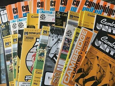 Cambridge United 1980s and 1990s home programmes
