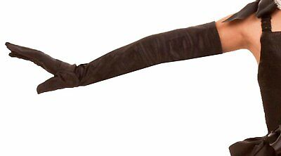 Long Black Elbow Gloves Child - One-Size