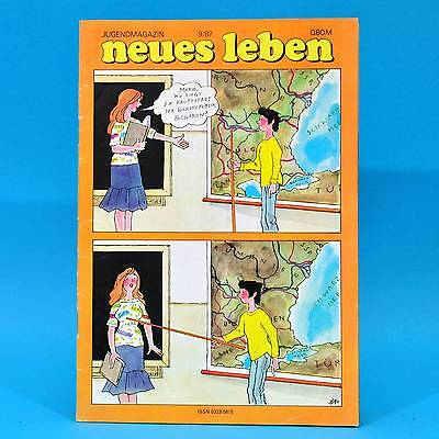 DDR Neues Leben 9/1987 Aktposter Jessica Chris Rea Görlitz Housemartins ZZ Top B