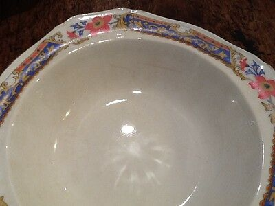 Vintage Art Deco Alfred Meakin Large Pudding Serving Bowl Circa 1930s