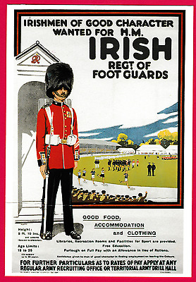 Unposted card. Recruitment for H.M. Irish Regiment of Foot Guards