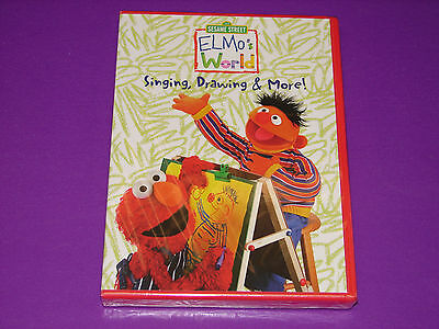 Elmo S World Singing Drawing More Dvd New Sealed