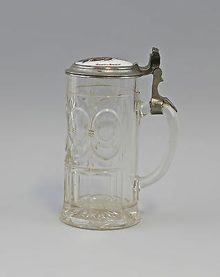 7935077 Glas Beer mug with Porcelain cover 19. Jh Walther-Glass