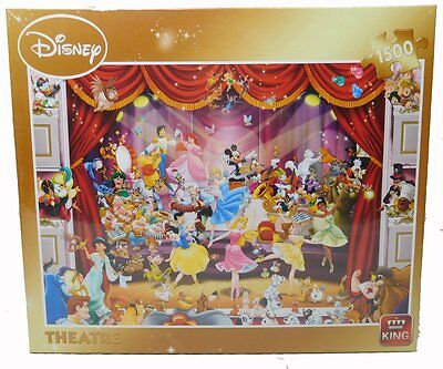 Original Disney Puzzle King Mickey Donald 1500 Teile Theater Prinzessin