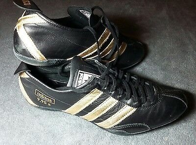 Adidas Azteca 1968 Mexico Olympic Trainers Running Shoes Black and Gold