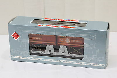 Railway Express Agency REA 46504 Piggyback Flat w/ Two Trailers Car G Scale