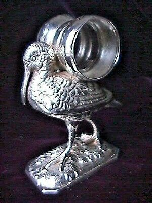 FANCY SILVERPLATE  stork  figural napkin ring.