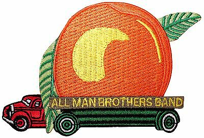 """The """"Allman Brothers Band"""" Peach Truck Blues Rock Music Iron On Applique Patch"""