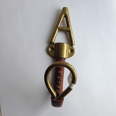 Equestrian Hook Initial A Bronze And Leather Anthropologie Homewares Letter A