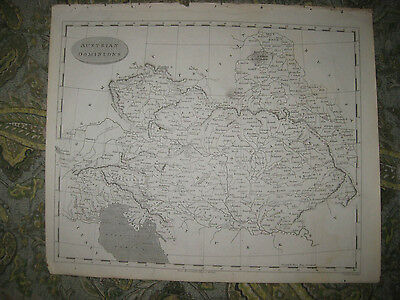 Antique 1805 Austrian Dominions Austria Hungary Bohemia Tyrol Copperplate Map Nr