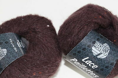 Wolle Kreativ! Lana Grossa - Lace Paillettes - Fb. 6 marone 25 g