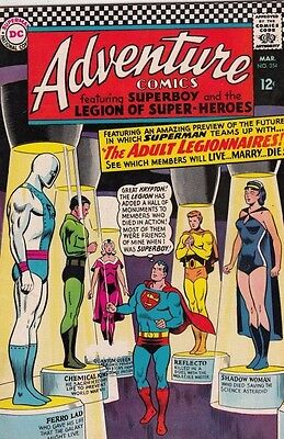 Adventure Comics 354 strict 1967 VF/NM High-Grade  Adult Legion of Super-Heroes