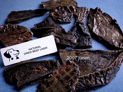 British Dried Beef Liver Slices Dog / Puppy Chew Treats 100% Natural Healthy