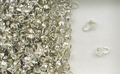 925 Sterling Silver 3.5mm Clamshell Bead Tips, Choice of Lot Size & Price