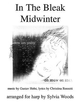 In the Bleak Midwinter Christmas Carol Harp Solo Lever & Pedal Sheet Music NEW
