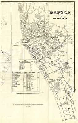 1898 Norris Peters Map or Plan of Manila, Philippines during Spanish-American Wa