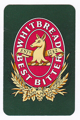 Whitbread Best Bitter, Brewery,Single Swap playing Card