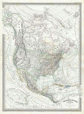1860 Dufour Map of North America
